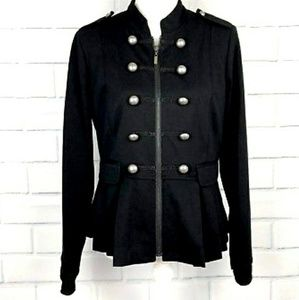 🆕 Apt 9 Black Military jacket blazer S